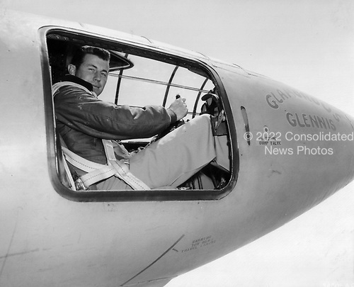 Captain Charles E. Yeager (shown in the cockpit of the Air Force's Bell-built X-1 supersonic research aircraft) became the first man to fly faster than the speed of sound in level flight on October 14, 1947..Credit: U.S. Air Force via CNP