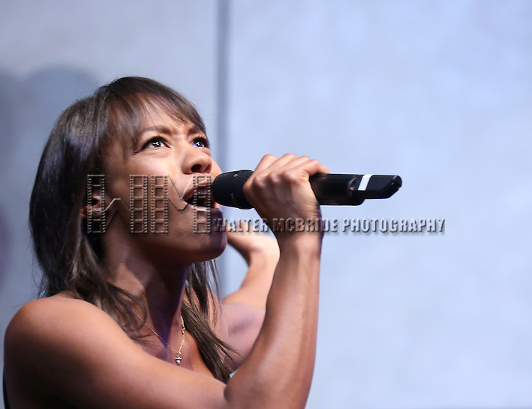 Nikki James performing at the Broadway Salutes 2015 in Anita's Way on September 29, 2015 in New York City.