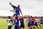 Carwyn Chase & Nafe Vea compete for lineout ball. Counties Manukau Premier Club Rugby game between Ardmore Marist and Manurewa, played at Bruce Pulman Park, Papakura on Saturday July 18th 2009..Ardmore Marist won the game 32 - 5 after leading 10 - 5 at halftime.