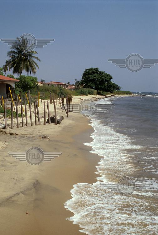 The beach at Bata.