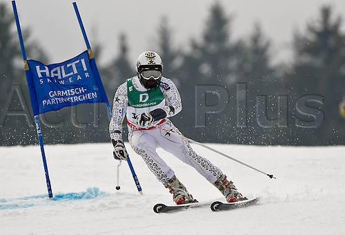 18 02 2011  FIS World Cup Gap 2011 RTL men Garmisch Partenkirchen Giant Slalom  Germany Simon Kwame  Acheampong Ghana GHA