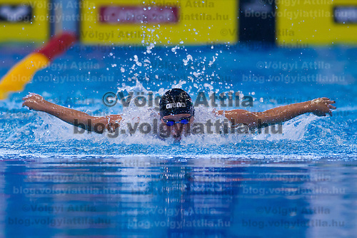 Katinka Hosszu of Hungary competes in the preliminary of Women's 200m Individual Medley of the 31th European Swimming Championships in Debrecen, Hungary on May 23, 2012. ATTILA VOLGYI