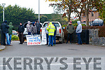 Farmers protesting outside the head office of Kerry Group in Princes street, Tralee on Wednesday morning.