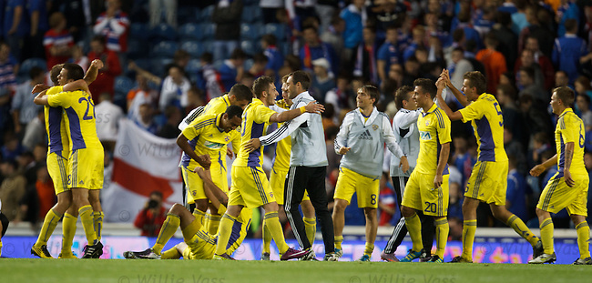 Maribor celebrate at the final whistle