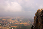Israel, Lower Galilee, a view of Migdal from Mount Arbel