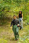 Richard Karp and Barb Jarwoski returning from hike.