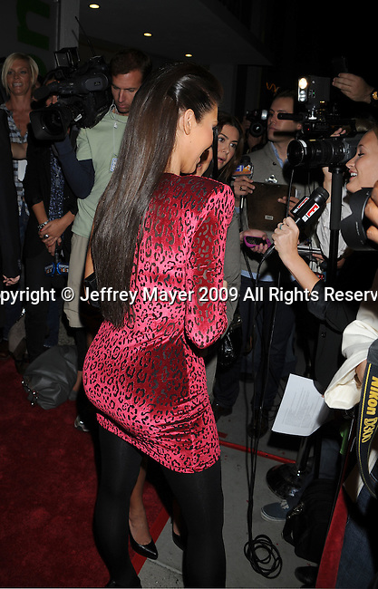 WEST HOLLYWOOD, CA. - October 21: Kimberly Kardashian arrives at the Lamar Odom launch of Rich Soil Fashion Line at Kitson L.A. on October 21, 2009 in West Hollywood, California.