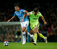 Rodri of Manchester City and Bruno Petkovic of Dinamo Zagreb during the UEFA Champions League Group C match between Manchester City and Dinamo Zagreb at the Etihad Stadium on October 1st 2019 in Manchester, England. (Photo by Daniel Chesterton/phcimages.com)<br /> Foto PHC/Insidefoto <br /> ITALY ONLY