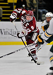 22 November 2011: University of Massachusetts Minutemen forward T.J. Syner, a Senior from Springfield, MA, in action against the University of Vermont Catamounts at Gutterson Fieldhouse in Burlington, Vermont. The Catamounts defeated the Minutemen 2-1 in their annual pre-Thanksgiving meeting of the Hockey East season. Mandatory Credit: Ed Wolfstein Photo