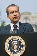 Washington DC, White House, July 31st 1973 Richard Nixon adressing to Kakuei TANAKA, Prime minister of Japan.
