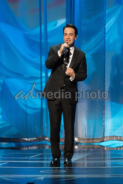 26 February 2017 - Hollywood, California - Lin-Manuel Miranda. 89th Annual Academy Awards presented by the Academy of Motion Picture Arts and Sciences held at Hollywood & Highland Center. Photo Credit: AMPAS/AdMedia