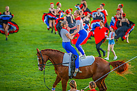 The Opening Ceremony celebrating the 2019 Partne Country: France. 2019 GER-CHIO Aachen Weltfest des Pferdesports. Tuesday 16 July. Copyright Photo: Libby Law Photography