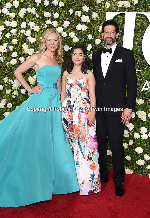 Rachal Bay Jones and family attend the 71st Annual  Tony Awards on June 11, 2017 at Radio City Music Hall in New York, New York, USA.<br /> <br /> photo by Robin Platzer/Twin Images<br />  <br /> phone number 212-935-0770