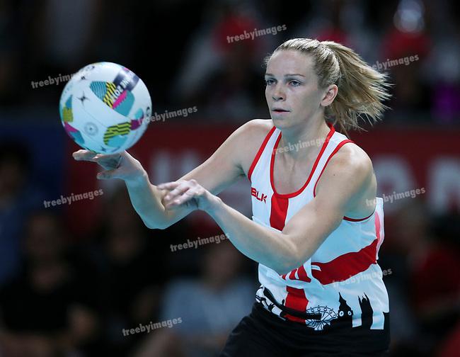 29/10/17 Fast5 2017<br /> Fast 5 Netball World Series<br /> Hisense Arena Melbourne<br /> Australia v England <br /> <br /> Jo Harten<br /> <br /> <br /> <br /> <br /> Photo: Grant Treeby