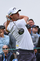 Thomas Pieters (BEL) watches his tee shot on 8 during round 1 of the 2019 US Open, Pebble Beach Golf Links, Monterrey, California, USA. 6/13/2019.<br /> Picture: Golffile | Ken Murray<br /> <br /> All photo usage must carry mandatory copyright credit (© Golffile | Ken Murray)