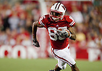 Wisconsin Badgers wide receiver David Gilreath (85) carries the ball during an NCAA college football game against the Ohio State Buckeyes on October 16, 2010 at Camp Randall Stadium in Madison, Wisconsin. The Badgers beat the Buckeyes 31-18. (Photo by David Stluka)