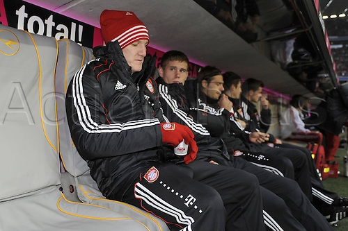 16 10 2010  Bastian Schweinsteiger Bavaria Munich on the Substitutes bench FC Bavaria Munich versus Hanover 96