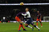 Erik Lamela of Tottenham Hotspur and John Stones of Manchester City during Tottenham Hotspur vs Manchester City, Premier League Football at Wembley Stadium on 29th October 2018