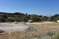 "FAO JANET TOMLINSON, DAILY MAIL <br /> Pictured: The field where the search is taking place in Kos, Greece. Friday 30 September 2016<br /> Re: Police teams searching for missing toddler Ben Needham on the Greek island of Kos have said they are ""optimistic"" about new excavation work.<br /> Ben, from Sheffield, was 21 months old when he disappeared on 24 July 1991 during a family holiday.<br /> Digging has begun at a new site after a fresh line of inquiry suggested he could have been crushed by a digger.<br /> South Yorkshire Police (SYP) said it continued to keep an ""open mind"" about what happened to Ben."