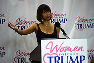 Washington, DC - June 9, 2016: Actress Stacey Dash speaks during a news conference for Women Vote Trump at the National Press Club in the District of Columbia, June 9, 2016. The Women Vote Trump project was started by a group of women to garner support for Donald Trump for president. (Photo by Don Baxter/Media Images International)