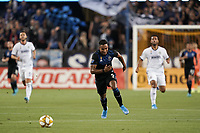 SAN JOSE, CA - SEPTEMBER 25: Danny Hoesen #9 of the San Jose Earthquakes during a Major League Soccer (MLS) match between the San Jose Earthquakes and the Philadelphia Union on September 25, 2019 at Avaya Stadium in San Jose, California.