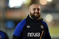 Tom Dunn of Bath Rugby looks on prior to the match. Premiership Rugby Cup match, between Bath Rugby and Gloucester Rugby on February 3, 2019 at the Recreation Ground in Bath, England. Photo by: Patrick Khachfe / Onside Images