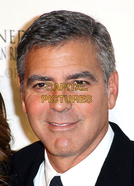 GEORGE CLOONEY .The Robert F. Kennedy Center for Justice & Human Rights Ripple of Hope awards dinner at Chelsea Piers, New York City, NY, USA, .17th November 2010..portrait headshot smiling black tie .CAP/ADM/PZ.©Paul Zimmerman/AdMedia/Capital Pictures.