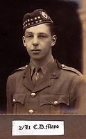 BNPS.co.uk (01202 558833)<br /> Pic: Bosleys/BNPS<br /> <br /> Lieutenant Charles Mayo of the Royal Scots - enjoyed a relatively comfortable war in a POW camp after being captured in September 1915 near Ypres.<br /> <br /> The stark contrast between the relative life of luxury enjoyed by captured Tommies of the First World War to the hell of the trenches they left behind can be revealed in a remarkable archive.<br /> <br /> It seems that being taken prisoner was a blessing in disguise judging by the gallery of photos that show the British officers leading a very civilised life at a German PoW camp.<br /> <br /> There was a gentlemen's agreement in place which would see the detainees allowed outside the camp during the day as long as they returned by the evening.<br /> <br /> The archive of Lieutenant Charles Mayo, which includes three of his First World War medals, is being sold by Bosley's auctioneers of Marlow, Bucks on Wednesday.