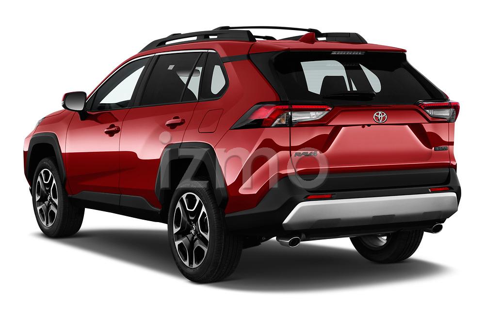 Car pictures of rear three quarter view of a 2019 Toyota RAV4 Adventure 5 Door SUV angular rear