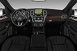 Stock photo of straight dashboard view of 2016 Mercedes Benz GLE-Class GLE300d 5 Door SUV Dashboard