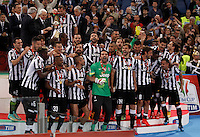 Calcio, finale Tim Cup: Juventus vs Lazio. Roma, stadio Olimpico, 20 maggio 2015.<br /> Juventus' players celebrate at the end of the Italian Cup final football match between Juventus and Lazio at Rome's Olympic stadium, 20 May 2015. Juventus won 2-1 after extra time.<br /> UPDATE IMAGES PRESS/Isabella Bonotto