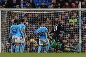3rd December 2017, Etihad Stadium, Manchester, England; EPL Premier League football, Manchester City versus West Ham United; Angelo Ogbonna of West Ham wins the header and scores in the 45th +1 minute to make it 0-1