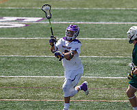 TD Ierlan (#3)  passes the ball as UAlbany Lacrosse defeats Vermont 14-4  in the American East Conference Championship game at Casey Stadium, May 5.
