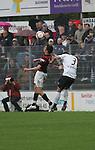 Sandhausen 19.04.2008, Kopfball Andreas Buchner (Ingolstadt) und Tim Bauer (SV Sandhausen) in der Regionalliga S&uuml;d 2007/08 SV Sandhausen 1916 - FC Ingolstadt 04<br /> <br /> Foto &copy; Rhein-Neckar-Picture *** Foto ist honorarpflichtig! *** Auf Anfrage in h&ouml;herer Qualit&auml;t/Aufl&ouml;sung. Belegexemplar erbeten.