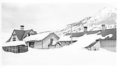 D&amp;RGW Crested Butte depot with heavy snow.<br /> D&amp;RGW  Crested Butte, CO