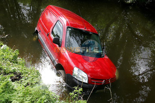 the citroen van that crashed into the canal at oldbridge on Thursday night..Photo NEWSFILE/FRAN CAFFREY..(Photo credit should read FRAN CAFFREY/NEWSFILE)...This Picture has been sent you under the condtions enclosed by:.Newsfile Ltd..the Studio,.Millmount Abbey,.Drogheda,.Co Meath..Ireland..Tel: +353(0)41-9871240.Fax: +353(0)41-9871260.GSM: +353(0)86-2500958.email: pictures@newsfile.ie.www.newsfile.ie.FTP: 193.120.102.198..This picture is from Fran Caffrey@newsfile.ie