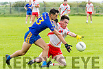 An Ghaeltacht Brian Ó Beaglaoich and Spa Mike Foley in an action during the County League Div. 2 round 11 match at Gallarus on Sunday afternoon.
