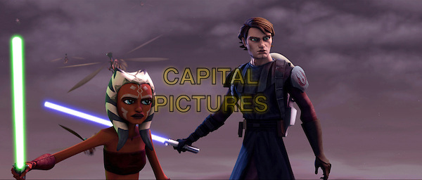 AHSOKA TANO (Ashley Eckstein) & ANAKIN SKYWALKER (Matt Lanter).in Star Wars: The Clone Wars.*Filmstill - Editorial Use Only*.CAP/FB.Supplied by Capital Pictures.