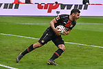 17.03.2019, BayArena, Leverkusen, GER, DFL, 1. BL, Bayer 04 Leverkusen vs SV Werder Bremen, DFL regulations prohibit any use of photographs as image sequences and/or quasi-video<br /> <br /> im Bild Kevin Volland (#31, Bayer 04 Leverkusen) Jubel / Freude / Emotion / Torjubel / Torschuetze zum 1:2 Leon Bailey (#9, Bayer 04 Leverkusen) <br /> <br /> Foto © nph/Mauelshagen