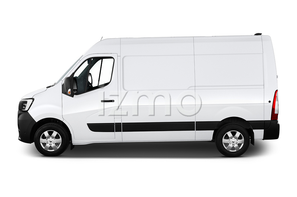 Car driver side profile view of a 2020 Renault Master Confort 4 Door Cargo Van