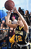 Caitlin Albanese #12 of Wantagh makes a pass during a non-league girls basketball game against West Babylon at Robert Moses Middle School in North Babylon on Saturday, Dec. 22, 2018. She tallied 11 points, four assists and four rebounds in Wantagh's 49-30 win.