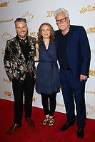 LOS ANGELES - OCT 6: Thomas Mikusz, Rebecca Brobel, Juergen Fabritius at the Babylon Berlin International Premiere held at The Theatre at Ace Hotel on October 6, 2017 in Los Angeles, CA