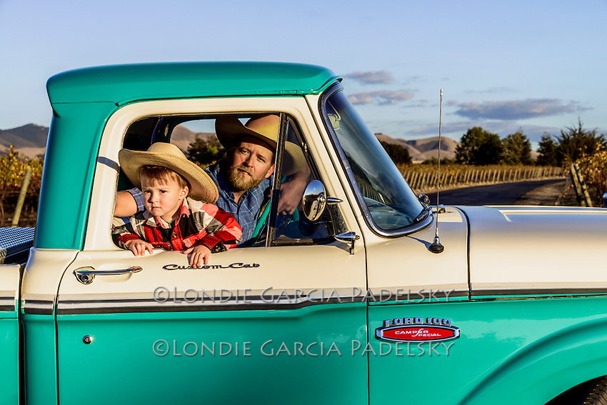 Father and son and the 1965 Ford f100 Truck