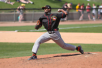 Quad Cities River Bandits pitcher Reymin Guduan (21) delivers a pitch during a game against the Wisconsin Timber Rattlers on May 2nd, 2015 at Fox Cities Stadium in Appleton, Wisconsin.  Quad Cities defeated Wisconsin 5-2.  (Brad Krause/Four Seam Images)