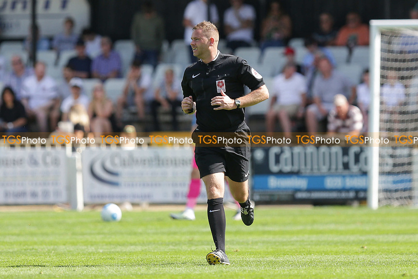 Referee Rob Whitton during Bromley vs Tranmere Rovers, Vanarama National League Football at Hayes Lane on 6th August 2016