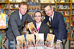 HEIRS TO THE KINGDOM: Author Owen O'Shea with Mayor of Tralee Arthur Spring and the former Tanaiste Dick Spring at the launch of his new book Heirs to the Kingdom at O'Mahony's book shop, Tralee on Friday.