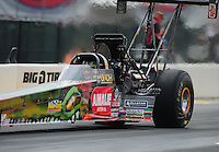 Jul. 31, 2011; Sonoma, CA, USA; NHRA top fuel dragster driver Terry McMillen during the Fram Autolite Nationals at Infineon Raceway. Mandatory Credit: Mark J. Rebilas-