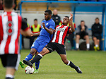 Keenan Ferguson of Sheffield Utd during the professional development league two match at the Bracken Moor Stadium, Stocksbridge. Picture date 21st August 2017. Picture credit should read: Simon Bellis/Sportimage