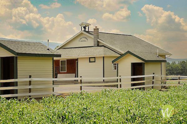 Scenic Mountain Amish School house.