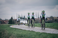 Julien Vermote (BEL/DimensonData)<br /> <br /> parcours recon of the 116th Paris-Roubaix 2018, 3 days prior to the race